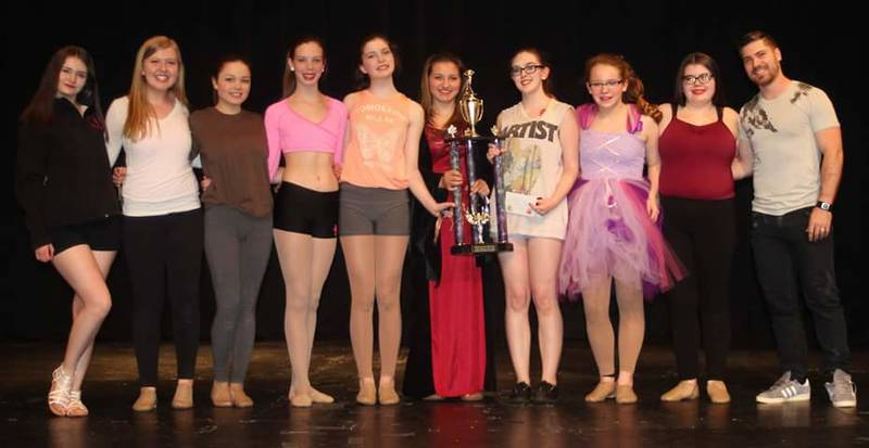 Winners of the overall performance award at the maritime dance competiton!