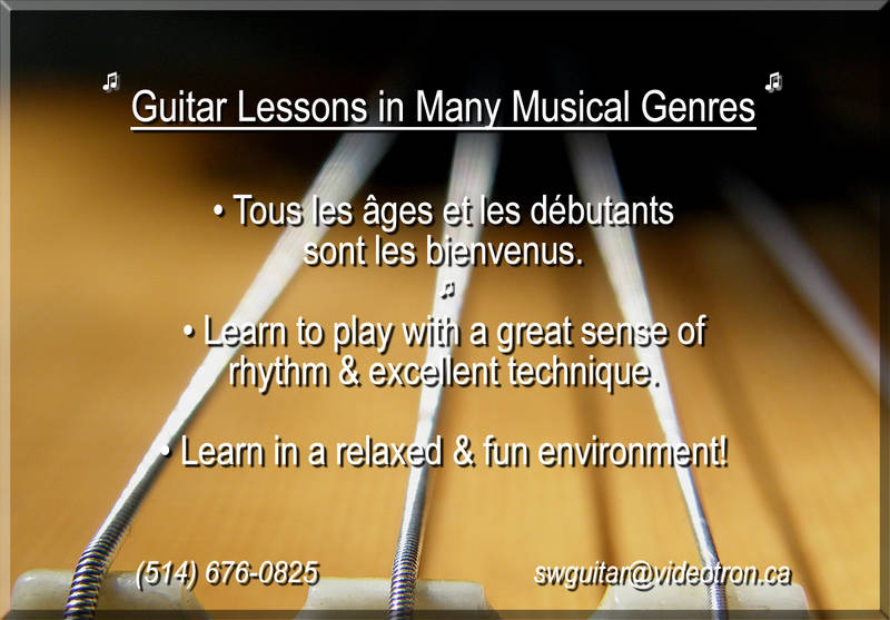 Guitar Lessons, West Island of Montreal